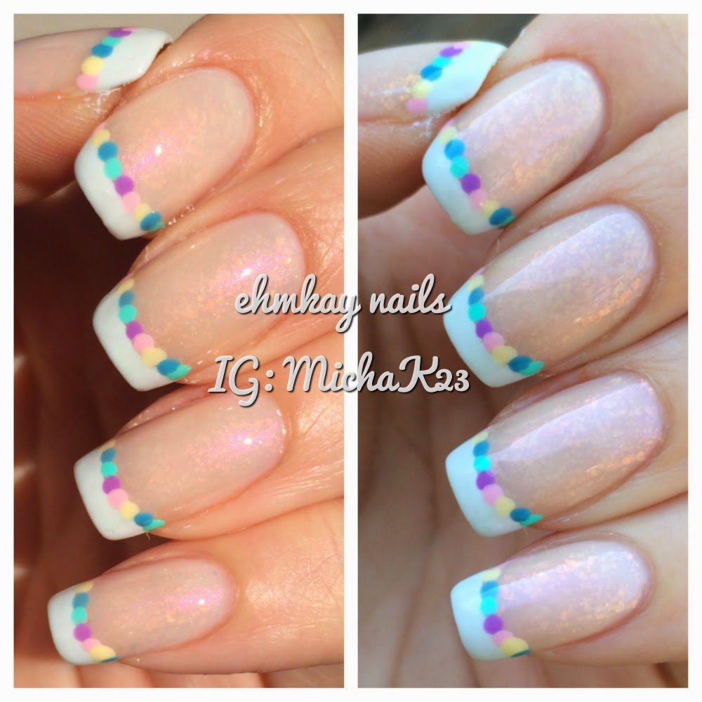 ehmkay nails: Easter Egg French Manicure