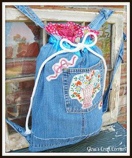 membuat kerajinan Backpack imut dari kain jeans lama