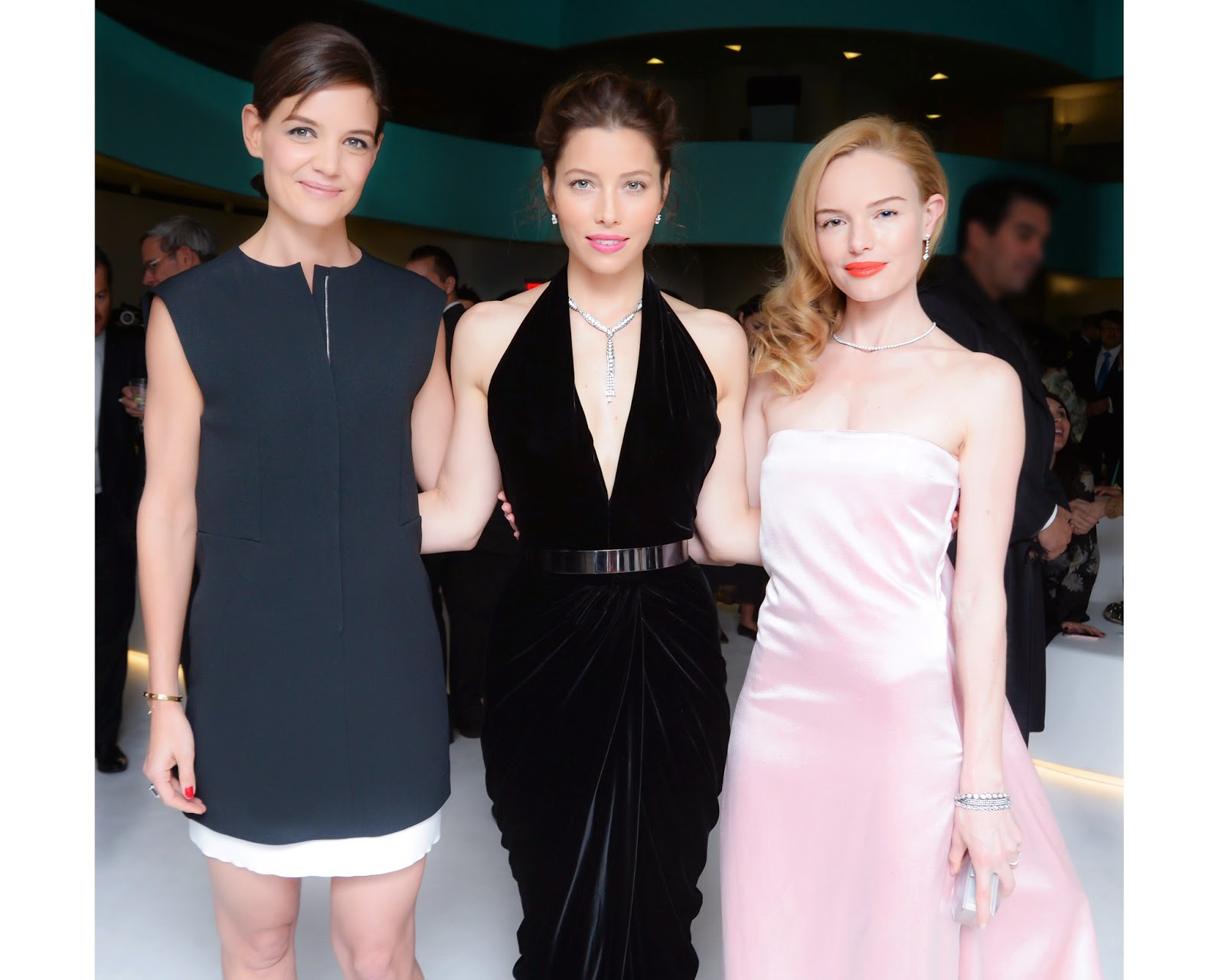 Jessica Biel, Kate Bosworth, Katie Holmes sparkled in Tiffany & Co. diamonds at the 2014 Blue Book debut in New York City
