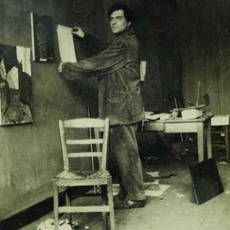 Artista en su estudio...