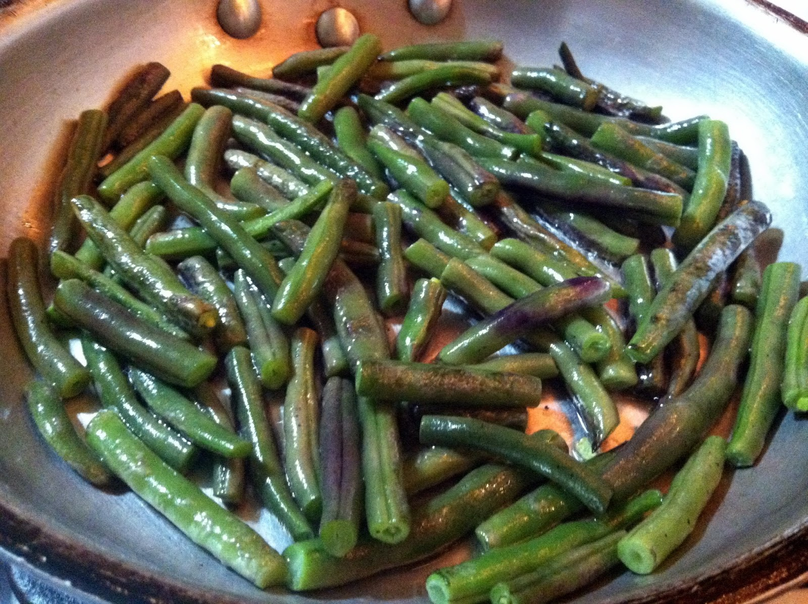 how to cook purple beans