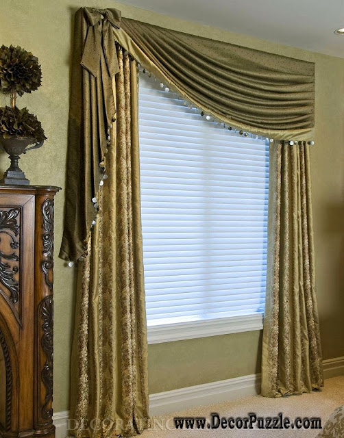 Top 20 luxury classic curtains and drapes designs 2015 for Curtains and drapes for bedroom ideas