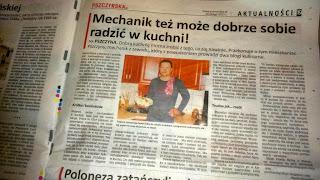 Gazeta Pszczyńska Mechanik w kuchni Mechanik grilluje artykuł prasowy o pasji kulinarnej do gotowania grillowania