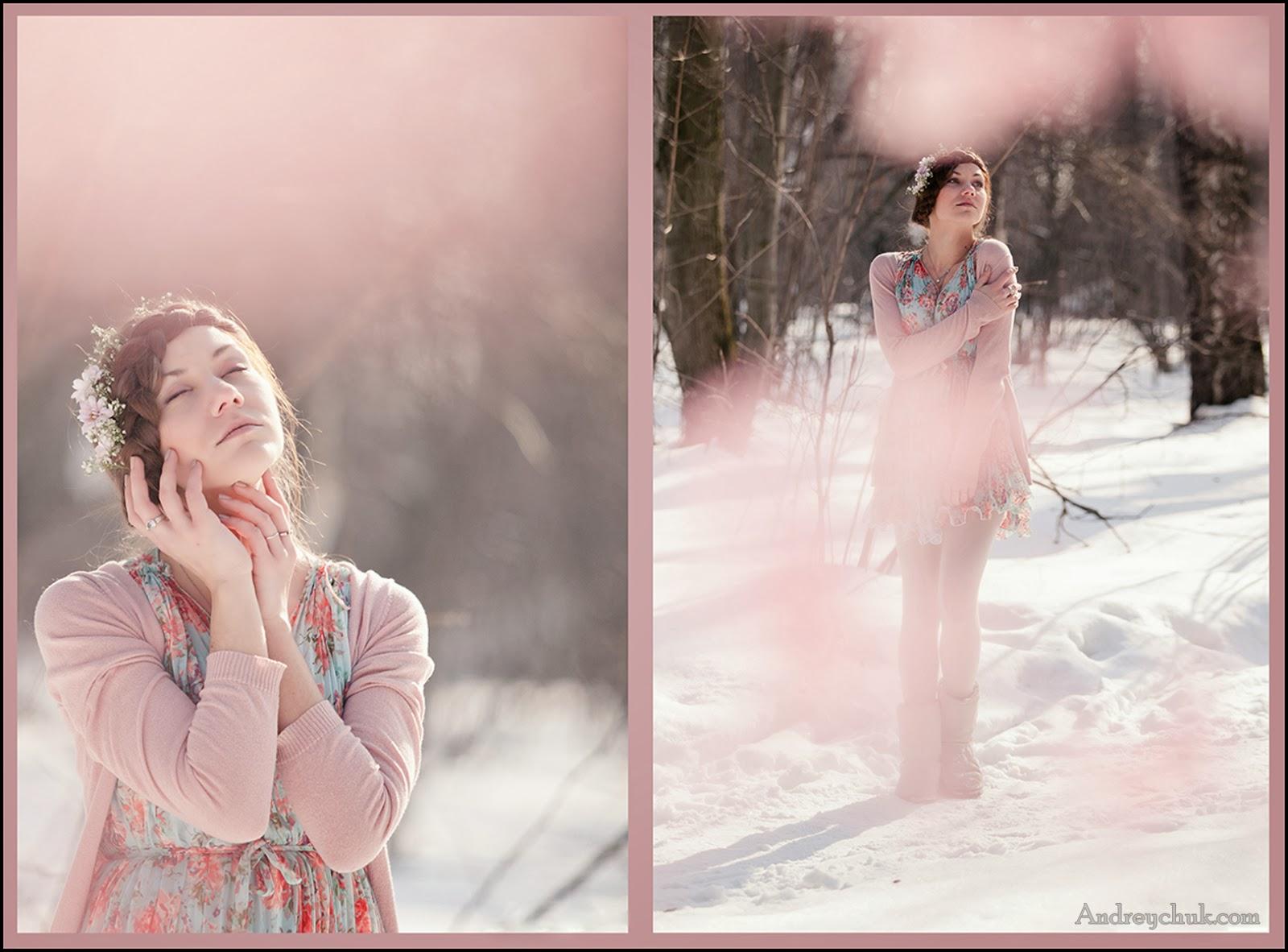 весеннее фото молодой девушки в лесу, лиричное настроение