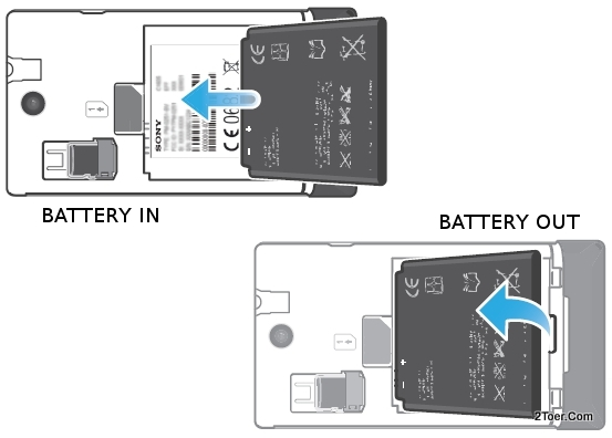 Assemble Battery Remove  Compartment Sony Xperia E C1505 C1504