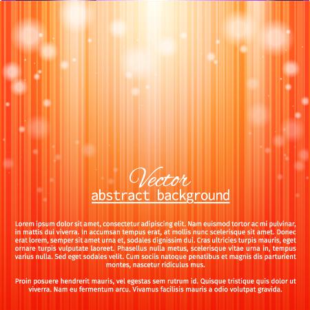 Fondo naranja con luz - Vector
