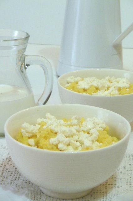polenta con feta