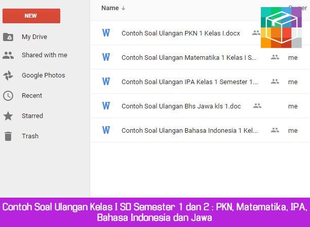 Contoh Soal Ulangan Kelas I SD Semester 1 dan 2 Mapel PKN, Matematika, IPA, Bahasa Indonesia dan Jawa