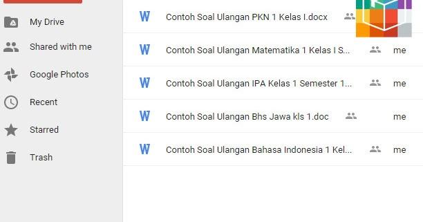 Contoh Soal Ulangan Kelas I Sd Semester 1 Dan 2 Pkn Matematika Ipa Bahasa Indonesia Dan