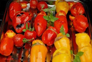 Grillgemüse - warum nicht einmal gefüllte Mini-Paprikaschoten