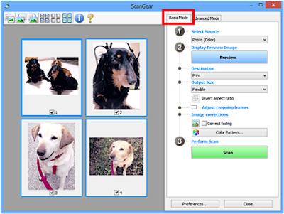 Базовый режим сканирования в Canon ScanGear