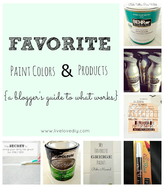 Favorite Paint Colors & Products: A DIY Blogger's Guide To What Works | LiveLoveDIY