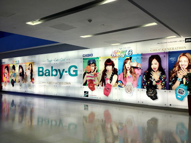 "SNSD ""Casio Baby-G"" advertisement Gallery in Singapore"
