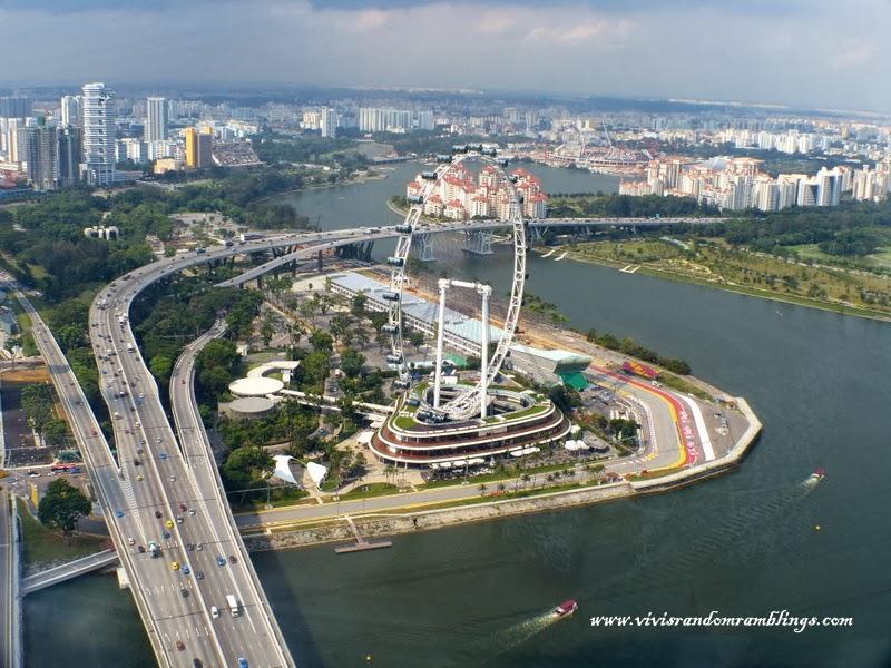 Singapore Flyer, Kallang River view from Sands SkyPark Observation Deck, Marina Bay Sands