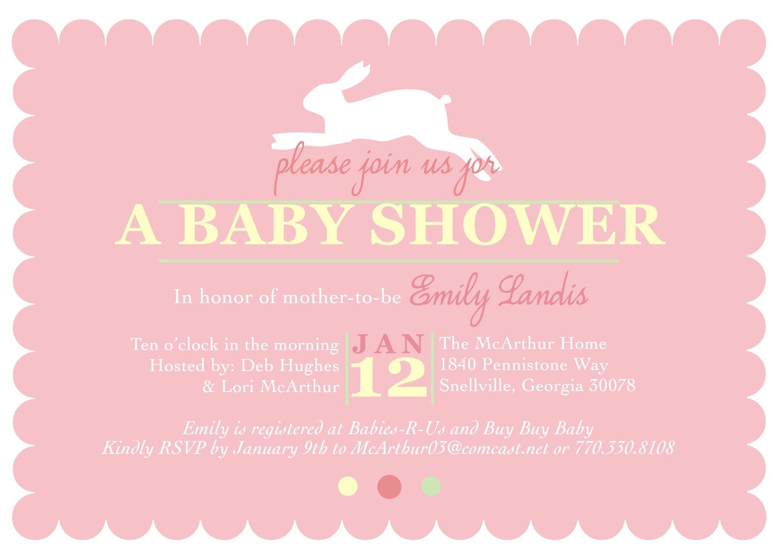 Shilo Lynn Prints: bunny: baby shower invitation
