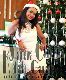 Gayesha Perera short dress white