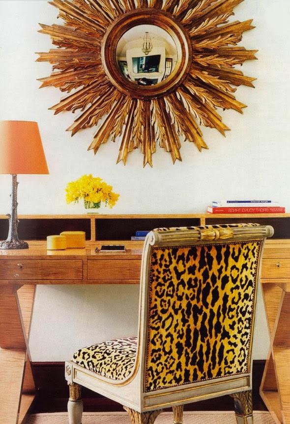 Kp decor studio un llamativo espejo sol dorado a - Espejo sol dorado ...