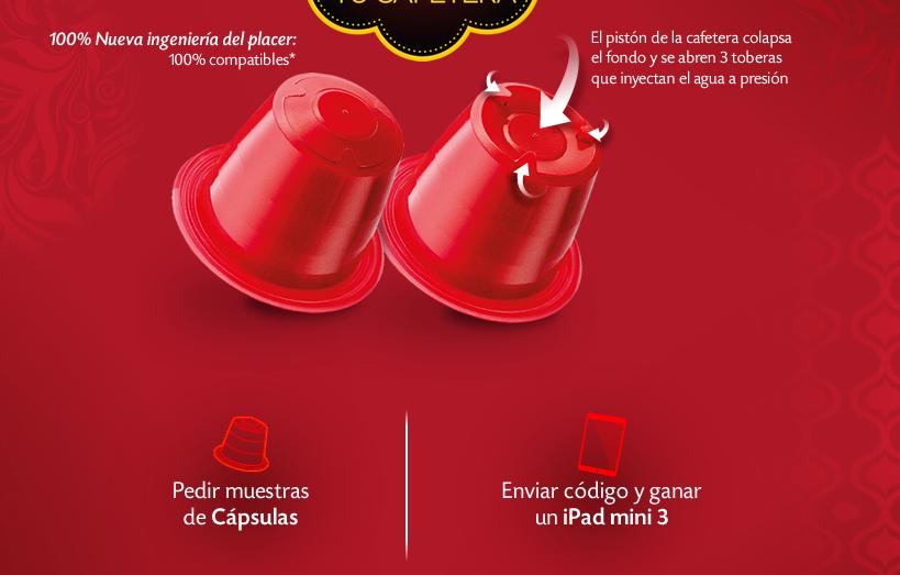 Muestras gratis de capsulas pompadour