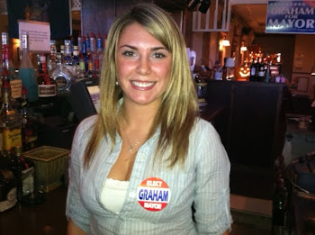 Bartender Ashley from the Bistro Shows Her Support
