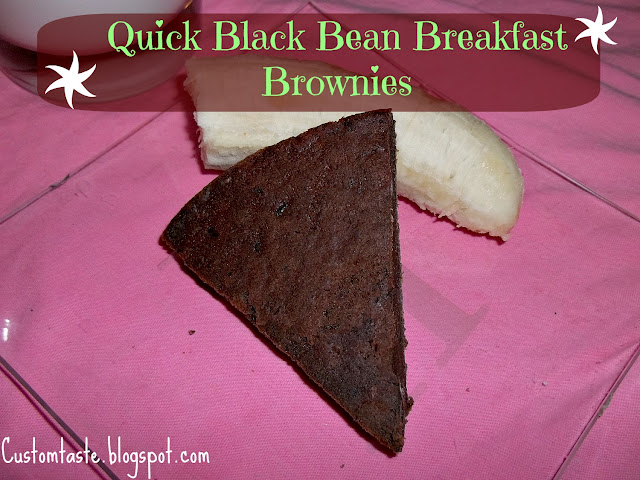 Quick Black Bean Breakfast Brownies by Custom Taste