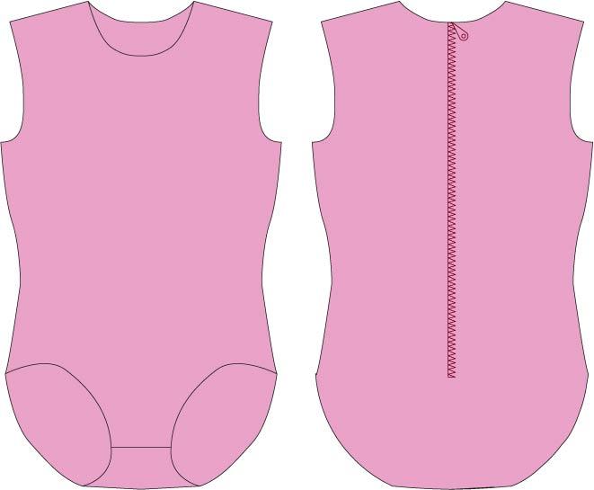 Apparel Pattern Making: Sewing pattern for leotard
