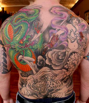 Back Piece Japanese Dragon Tattoo Ideas japanese dragon