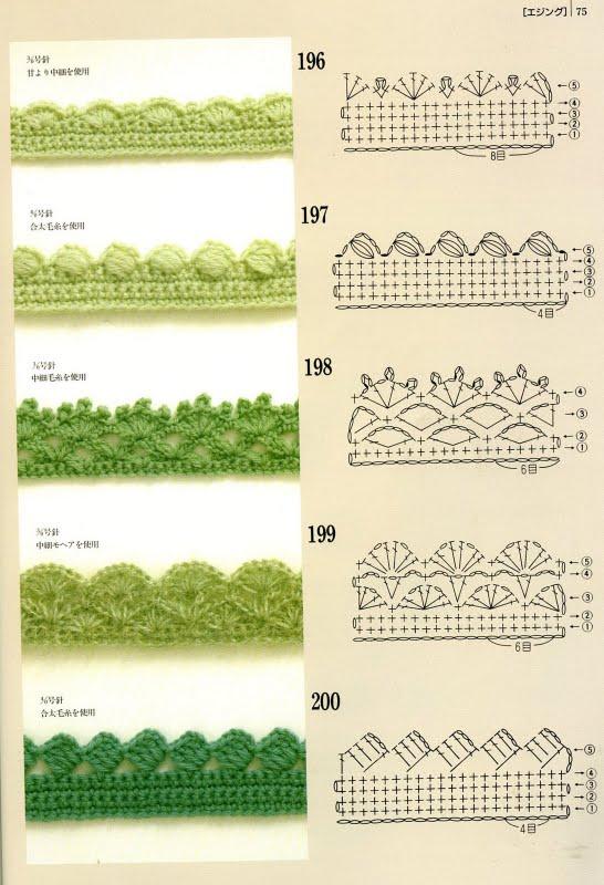 Bordes de crochet - Imagui