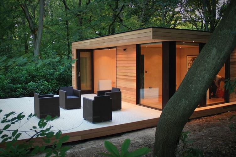 Casas minimalistas y modernas cabana compacta moderna - Casas de madera minimalistas ...