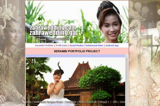 Zahrawedding.com / Zahrawedding.ga siap diakses Online sejak : 5 Maret 2015 - juga tersedia Applikasinya berbasis Android