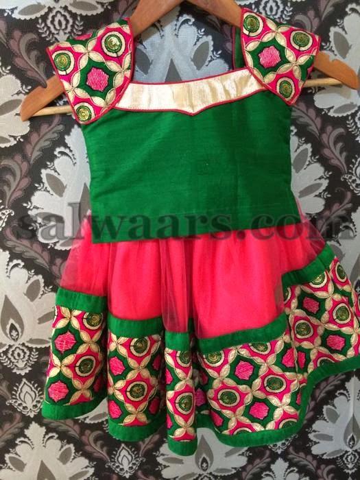1 Year Baby Thread Work Skirt