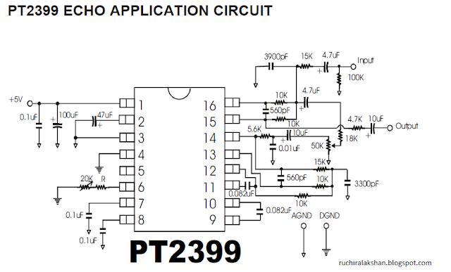 echo processor  mono high quality  tested  pt2399