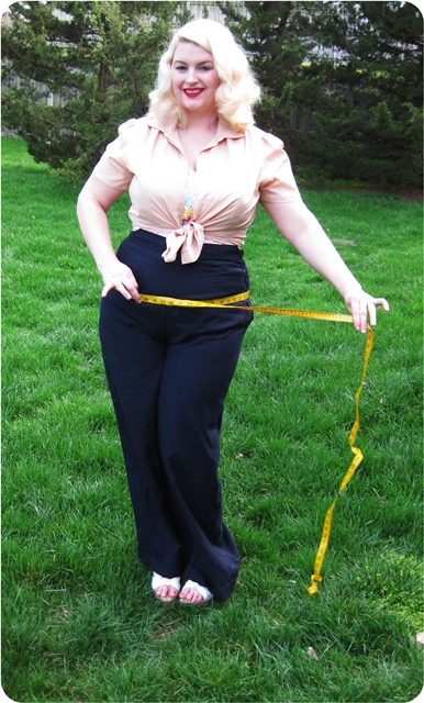 1940s plus size pants for casual vintage fashion