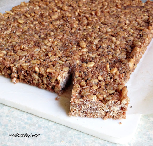 Healthy chocolate crackle slice © www.foodbabylife.com