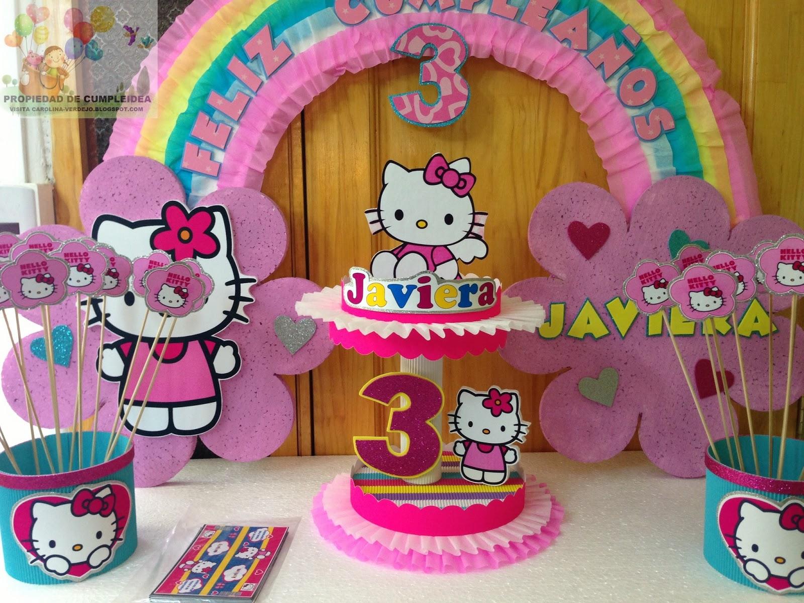 Decoraciones infantiles hello kitty for Decoraciones infantiles