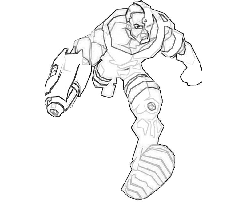 Printable Injustice Gods Among Us Cyborg Armor Coloring Pages