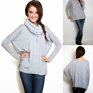 grey piko top flourish boutique