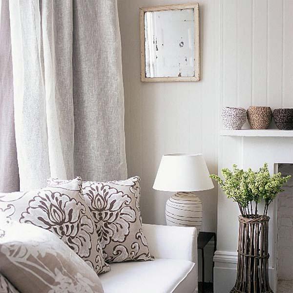 salón en grises y blanco-cálido-rincón colores naturales