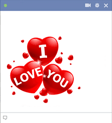 Love You in Triple Hearts Sticker
