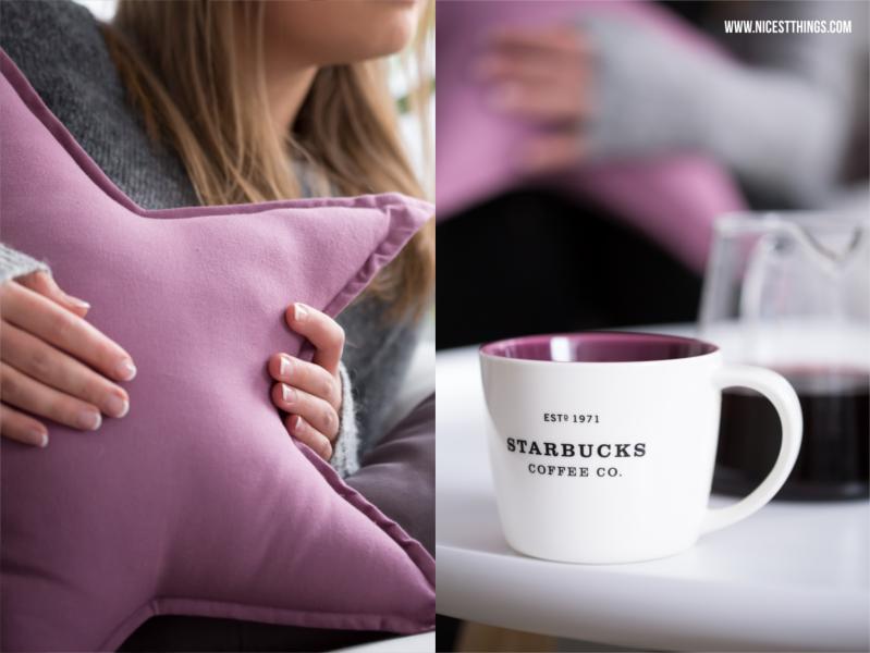Lila Sternkissen Starbucks Tasse lila