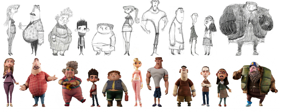 Character Design Library : Living lines library paranorman character design