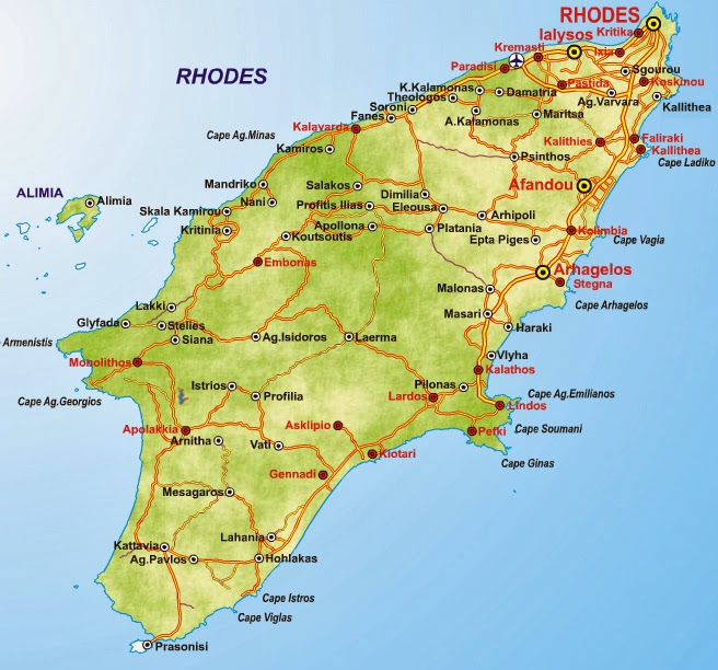 Rhodes Map Rhodes Travel Guide