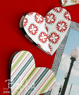 Adorable Heart Embelishments on an I heart Malta Scapbook Page by Bekka featuring the scrummy Twitterpated Papers from  Stampin' Up!  Check Up her Scrapbook Club