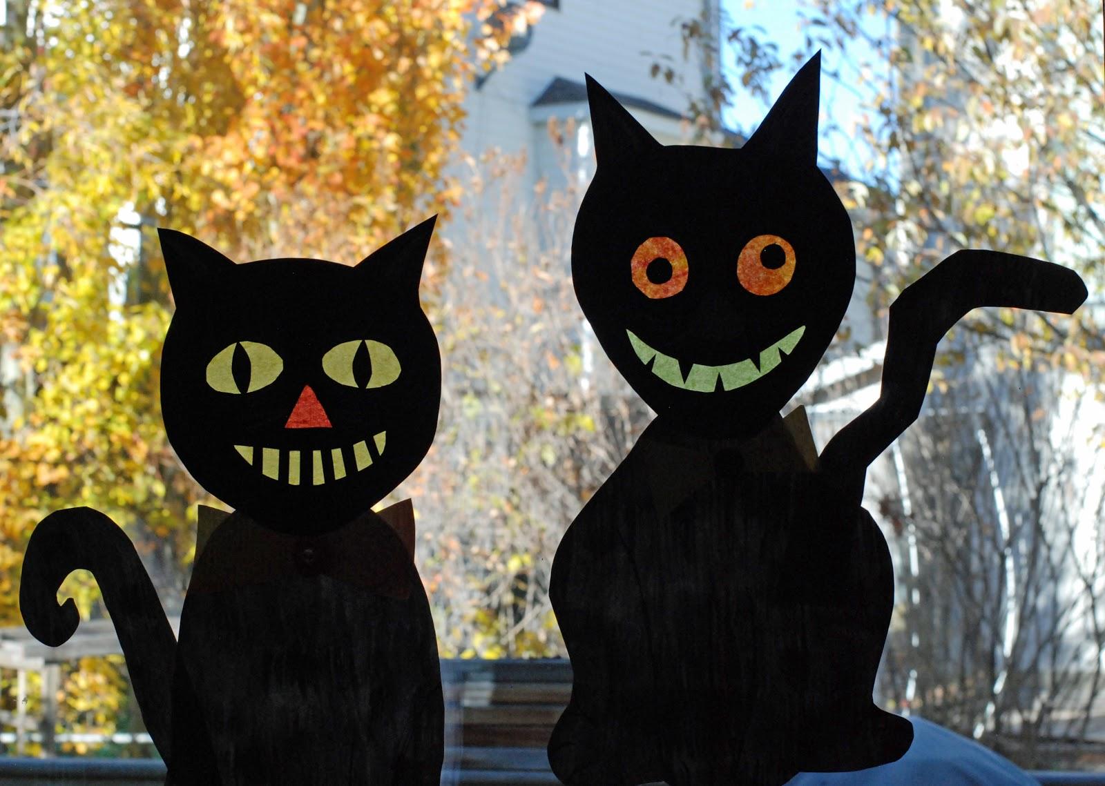 that artist woman: Halloween Crazy Cats