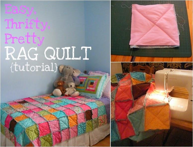 DIY Easy, Thrifty, Pretty Rag Quilt