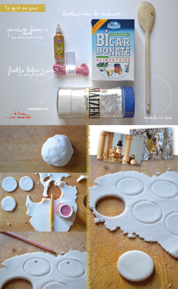 Rose et vert diy d coration de no l - Decoration noel pate fimo ...