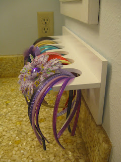 Craft Organizer holds headbands