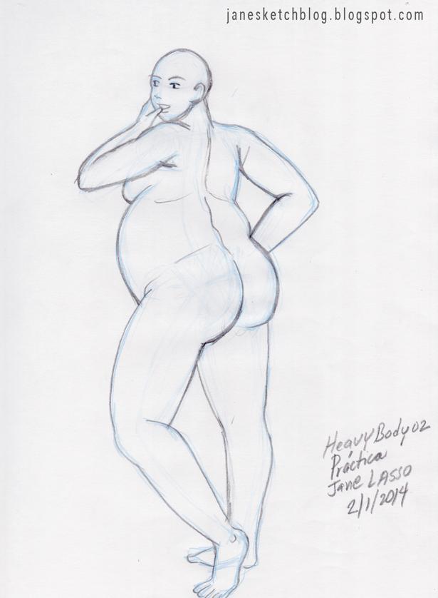 Dibujo de cuerpo obeso