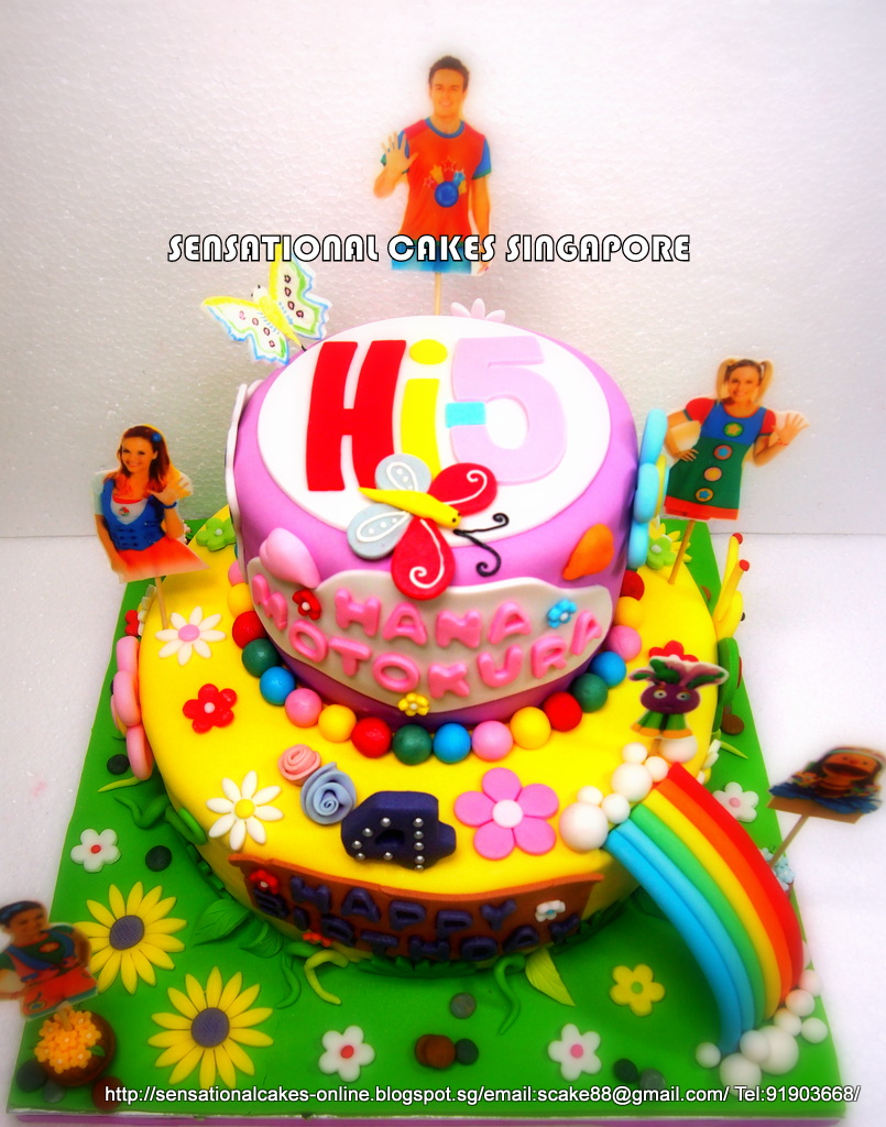 The Sensational Cakes Hi 5 2 Tier Cake Singapore Special Hi 5