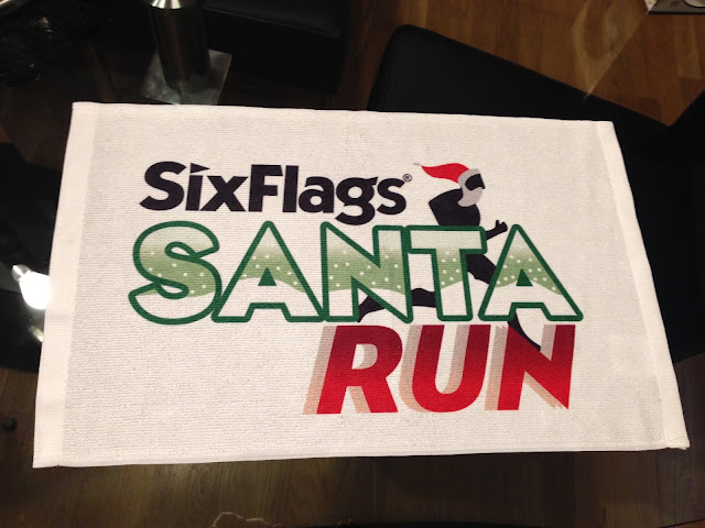 Santa run 5k swag towel