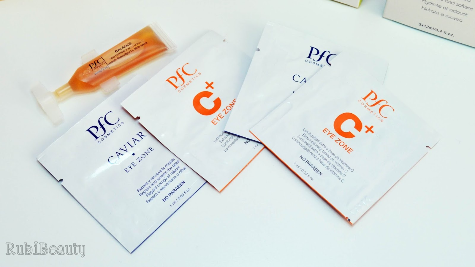 rubibeauty review opinion PFC cosmetics cosmetica profesional piel grasa deshidratada brillos contorno ojos mascarilla serum caviar vitamina C